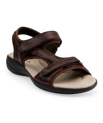 Dark Brown Rise Sandal - Women