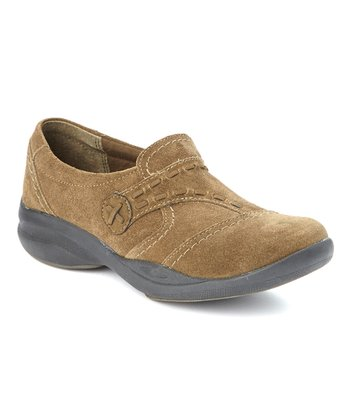 Olive Suede In-Motion Camp Shoe - Women
