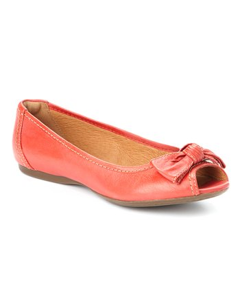 Red Aldea Joy Peep-Toe Flat - Women