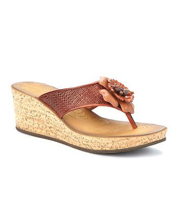 Orange Mimmey Claire Platform Wedge Sandal - Women