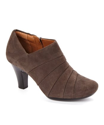 Pewter Suede Society Gown Bootie - Women