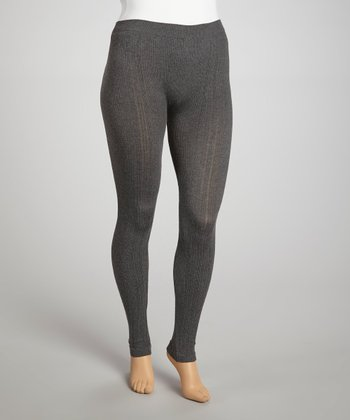 Charcoal & Heather Gray Seamless Leggings - Plus