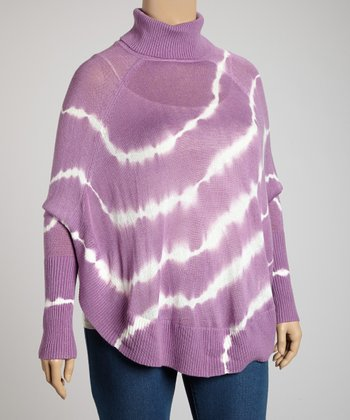 Purple Tie-Dye Sweater - Plus
