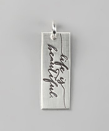 Sterling Silver Expressions 'Life Is Beautiful' Charm