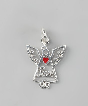 Sterling Silver Angel Love Charm