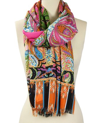Rose Polished Paisley Scarf