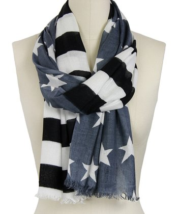 Gray Stars & Stripes Scarf