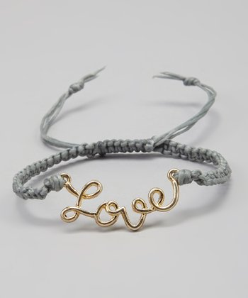 Gold & Gray 'Love' Bracelet
