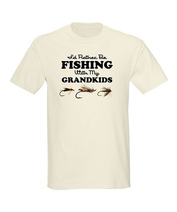 Natural 'Fishing With My Grandkids' Tee - Men