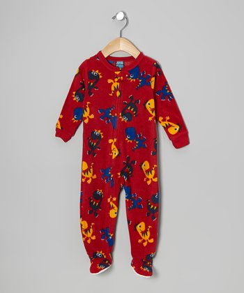 Red Dino Blanket Footie - Infant & Toddler