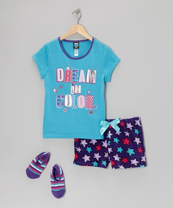 Blue Atoll 'Dream in Color' Pajama Set - Girls
