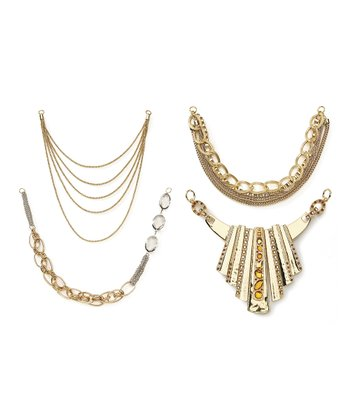 Gold Glam Necklace Bottom Set