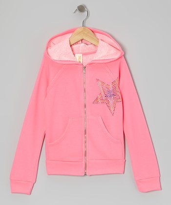 Pink Star Party Rock Hoodie - Girls