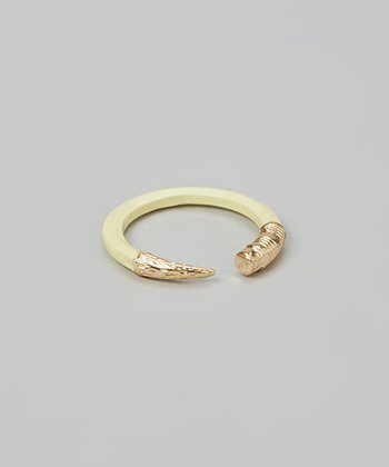 Ivory & Gold Pencil Ring