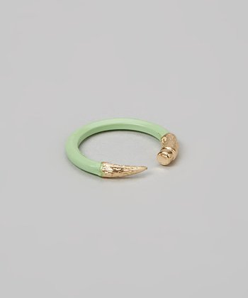 Mint & Gold Pencil Ring