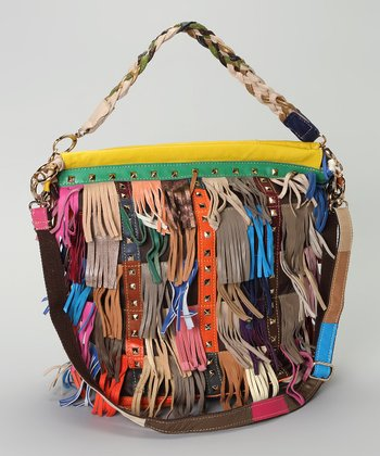 Fuschia & Orange Fringe Tote
