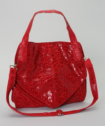 Red Leopard Glazed Tote