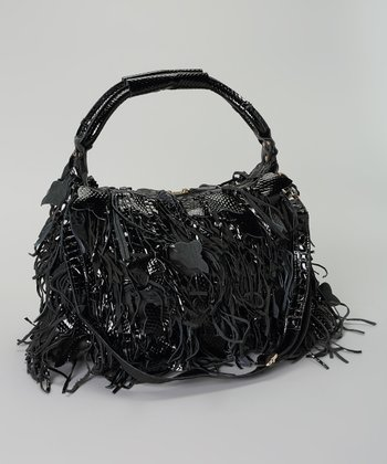 Black Butterfly Fringe Shoulder Bag