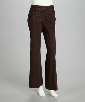 Chocolate Wide-Leg Pants