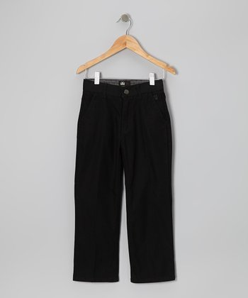 Black Anomaly Slim-Fit Twill Pants - Boys