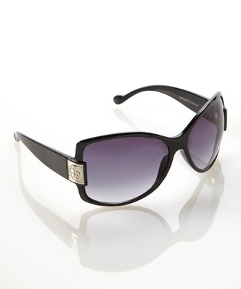Black Metallic Hardware Butterfly Sunglasses