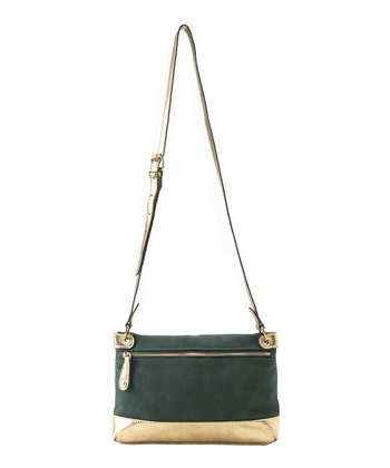 Emerald Lolita Zipper Crossbody Bag