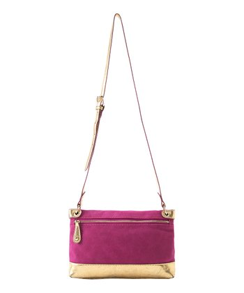 Magenta Lolita Zipper Crossbody Bag