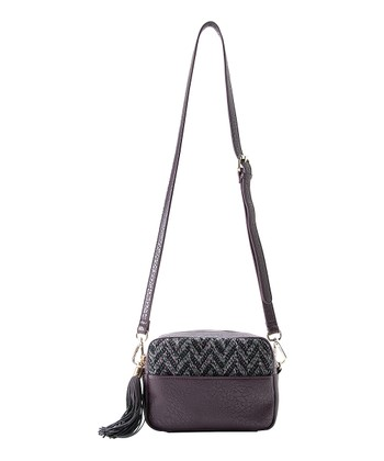Bordeaux Dana Zipper Crossbody Bag