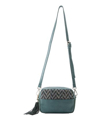 Emerald Dana Zipper Crossbody Bag