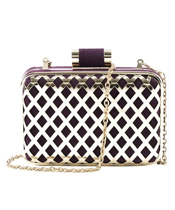 Purple Jean Minaudiere Clutch