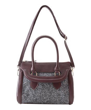 Burgundy Ella Satchel
