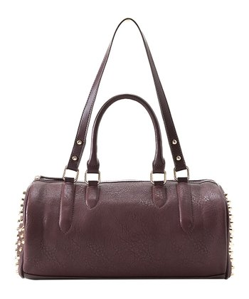 Burgundy Joan Satchel