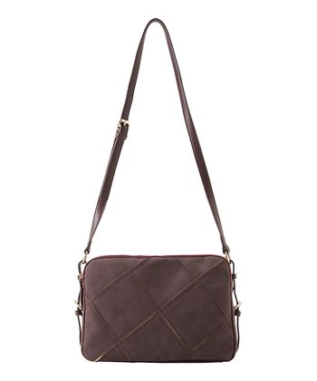 Burgundy Veronica Crossbody Bag