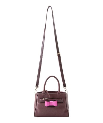 Burgundy Kelly Mini Crossbody Satchel