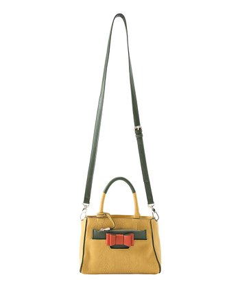 Yellow Kelly Mini Crossbody Satchel