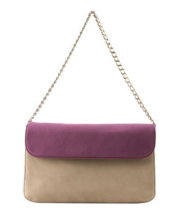 Nude & Purple Monique Shoulder Bag