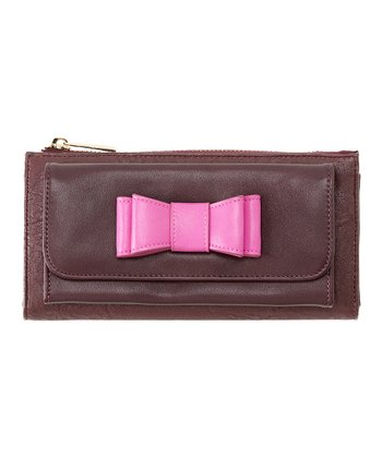 Burgundy Kelly Phone Wallet