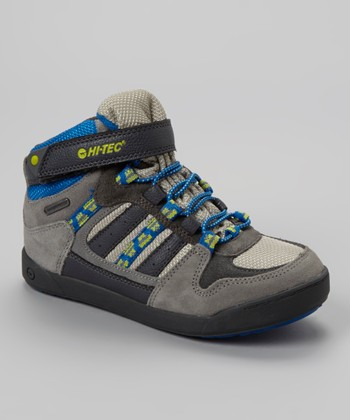 Oat & Royal Blue Omaha Hi-Top Sneaker - Kids