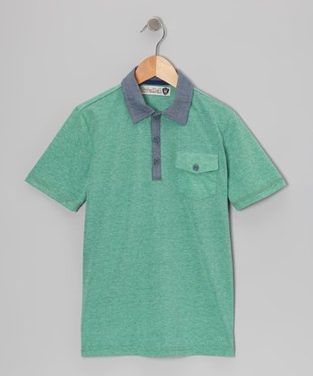 Grass Green Randy Polo - Boys