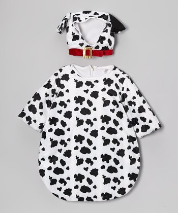Black & Dalmatian Bunting Bag Dress-Up Set - Infant