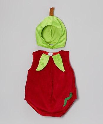 Red & Green Apple Bubble Dress-Up Set - Infant