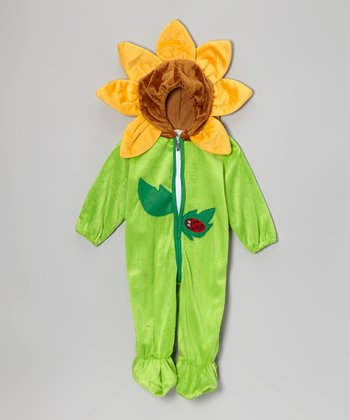 Green & Yellow Sunflower Dress-Up Outfit - Infant