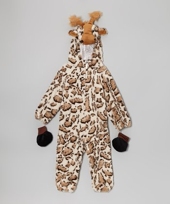 Brown & Tan Giraffe Dress-Up Outfit - Infant & Toddler