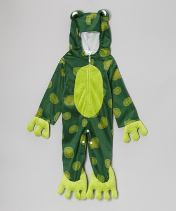 Dark Green Frog Dress-Up Outfit - Infant & Toddler