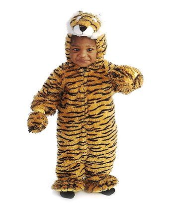Orange Furry Tiger Dress-Up Outfit - Infant & Toddler