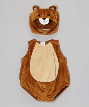 Tan Cat Bubble Dress-Up Set - Infant