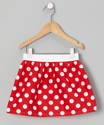 Red & White Polka Dot Skirt - Infant, Toddler & Girls