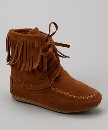 Tan Katherine Fringe Ankle Boot