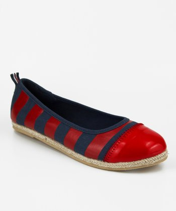 Red & Navy Scow Flat