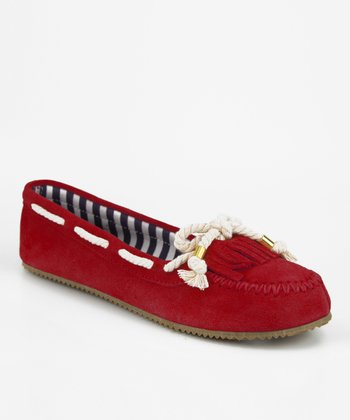 Crimson Red Haul Boat Shoe